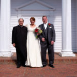 Sheila and Ted at the Martha Mary Chapel in Sudbury MA